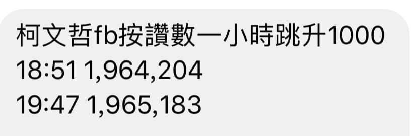 財經專家胡采蘋質疑,台北市長柯文哲臉書按讚數異常暴增。圖/取自Emmy Hu臉書
