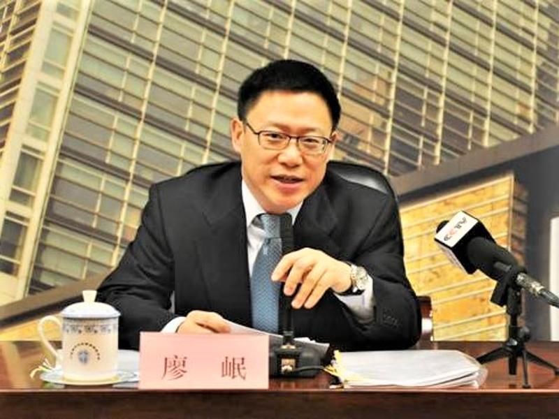 中央財辦副主任、財政部副部長廖岷率官員赴美談判。圖/取自中國銀監會