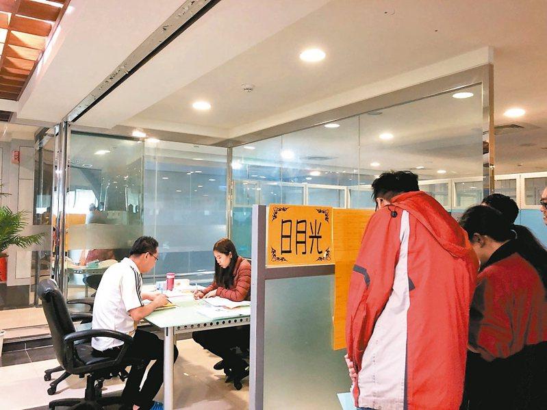 華映今年上半年有一波大量解雇,資遣勞工1558人,市府就服處當時積極安排廠商入廠徵才。 圖/桃園市就業服務處提供
