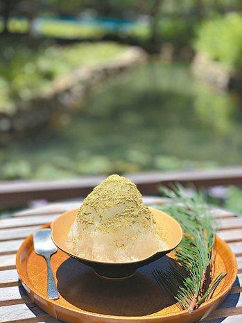 泡完好湯,來一碗為賓客準備的五葉松刨冰,幸福滋味滿溢。 圖/陳志光