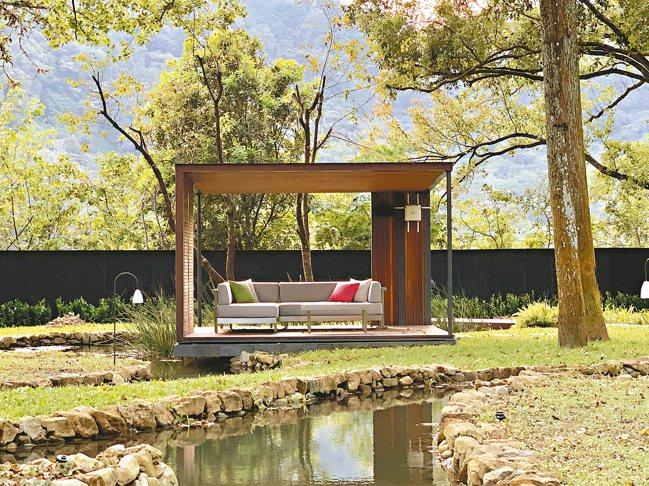 處處有賓客歇腳休憩的地方。圖為「水之庭園」一隅。 圖/陳志光