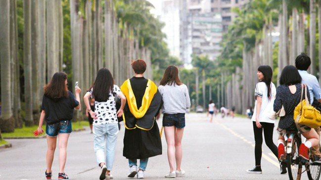 台灣有極高的高教就學率,使得25歲以下年輕人的勞參率偏低。 本報資料照片