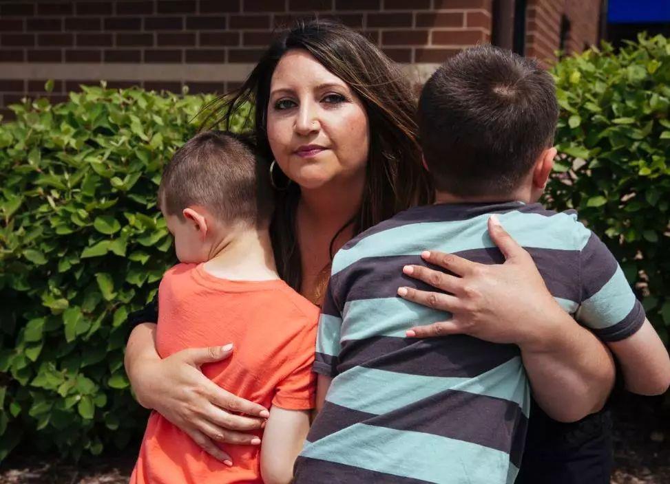 Danielle Rizzo在使用精子庫裡的捐獻精子後生的兩個孩子都是自閉症。圖...