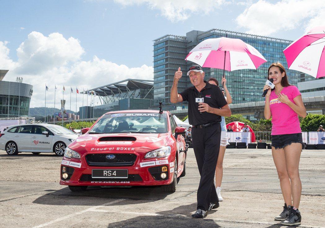 金氏世界紀錄特技車手Russ Swift將於品牌日進行每日三場的「極限飄移秀」,...