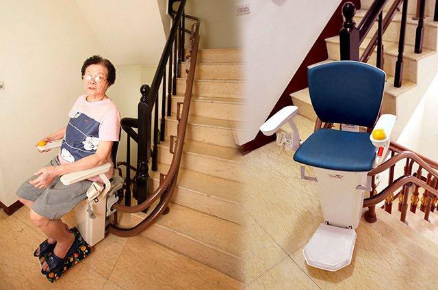 彰化謝大哥心疼母親爬梯之苦,貼心安裝爬梯利器避免上下樓梯風險。 圖/泓電自動化股...