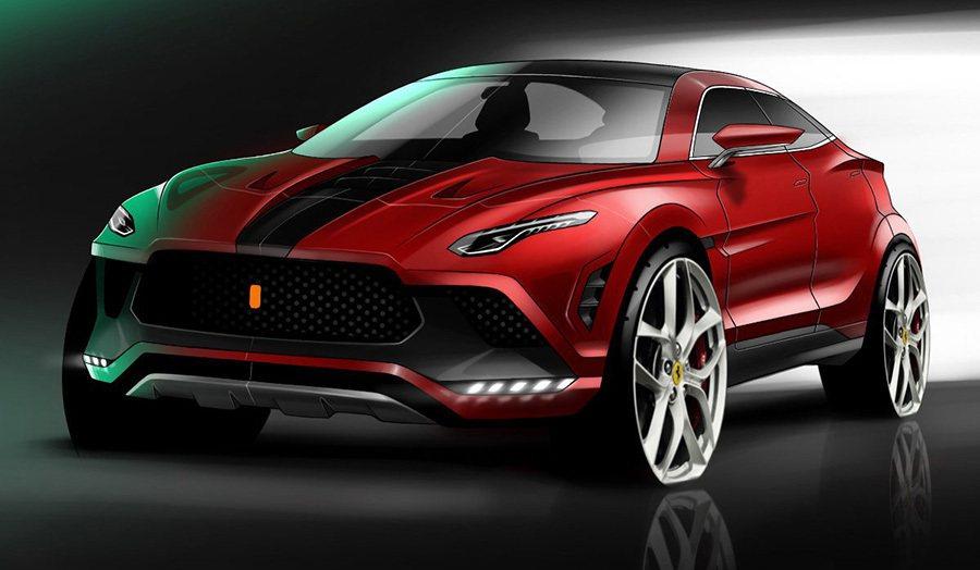 Ferrari Purosangue預想圖。 摘自carscoops