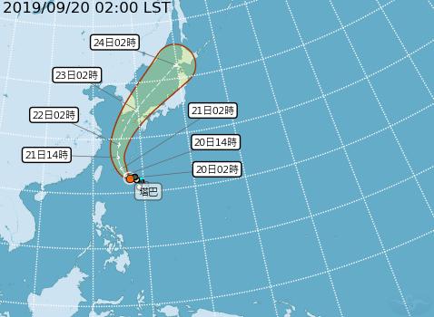 今年第17號颱風「塔巴」昨天下午生成,估今天最接近台灣。圖/中央氣象局提供