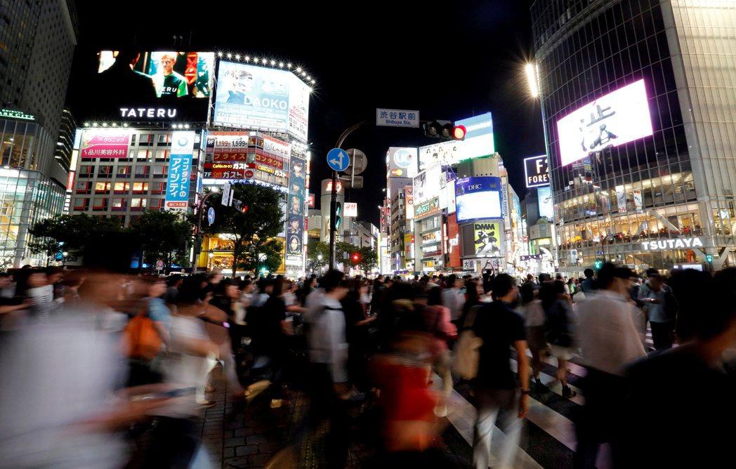 日本東京澀谷購物區。  路透