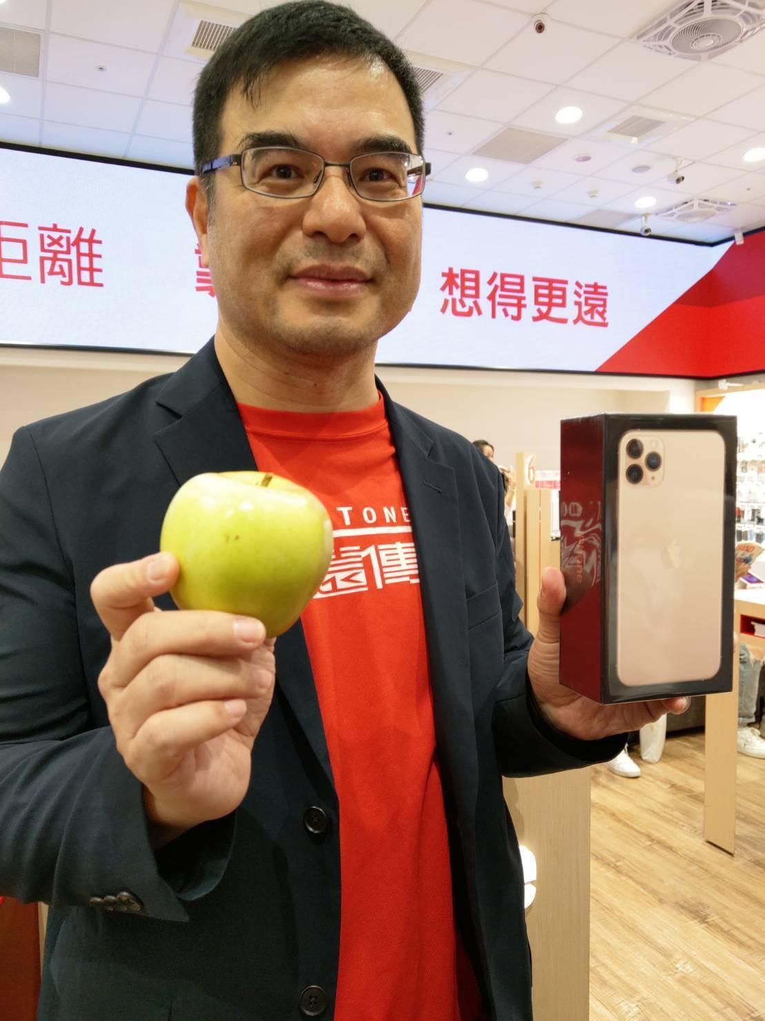 iPhone 11開賣,「夜幕綠」最搶手,遠傳個人用戶事業群行動裝置管理處副總杜...