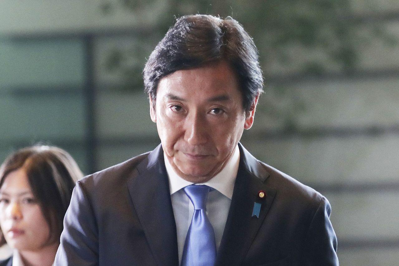 日本經濟產業大臣菅原一秀 美聯社