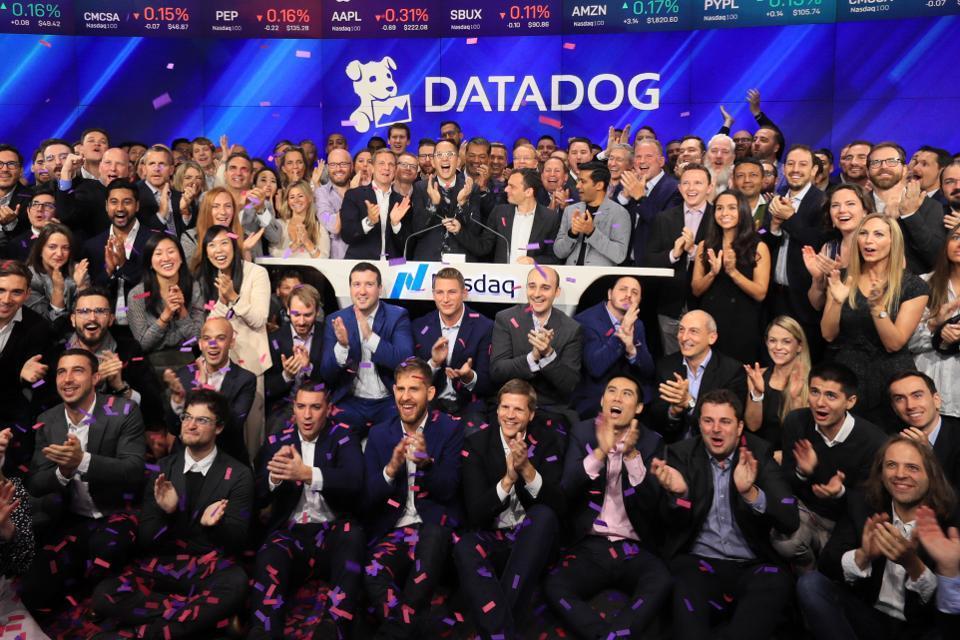 Datadog 19日在紐約那斯達克掛牌交易。(網路圖片/那斯達克提供)