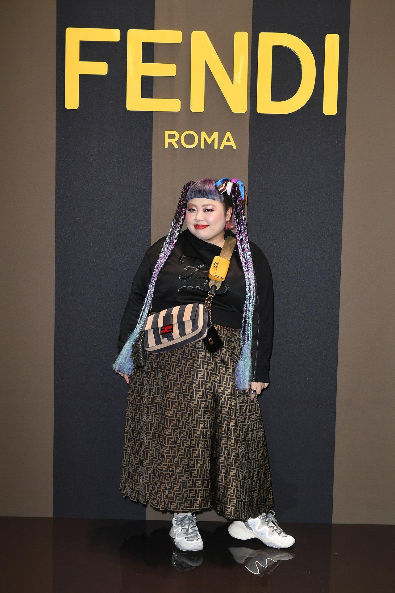 渡邊直美出席FENDI 2020春夏時裝秀。圖/FENDI提供