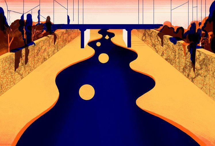 雙人藝術家ICINORI對於物件時而以圖形創作,圖為清溪川。圖/LV提供