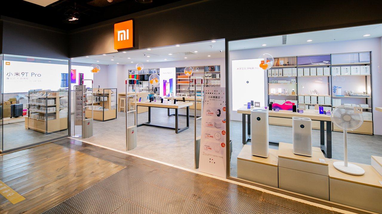 小米台北南西專賣店佔地40坪,位於新光三越南西三館4樓。圖/小米台灣提供