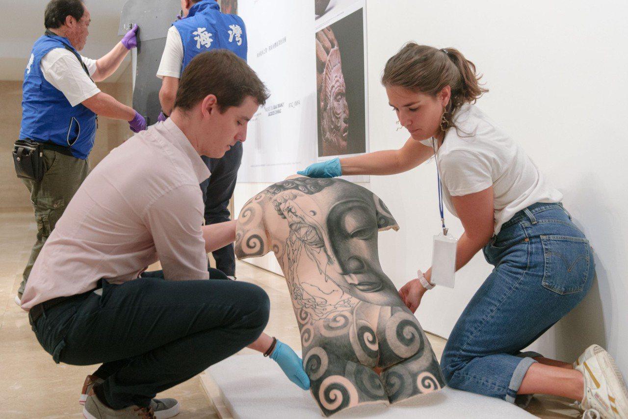 高美館舉行《TATTOO 刺青-身之印》特展開箱記者會。記者徐如宜/攝影