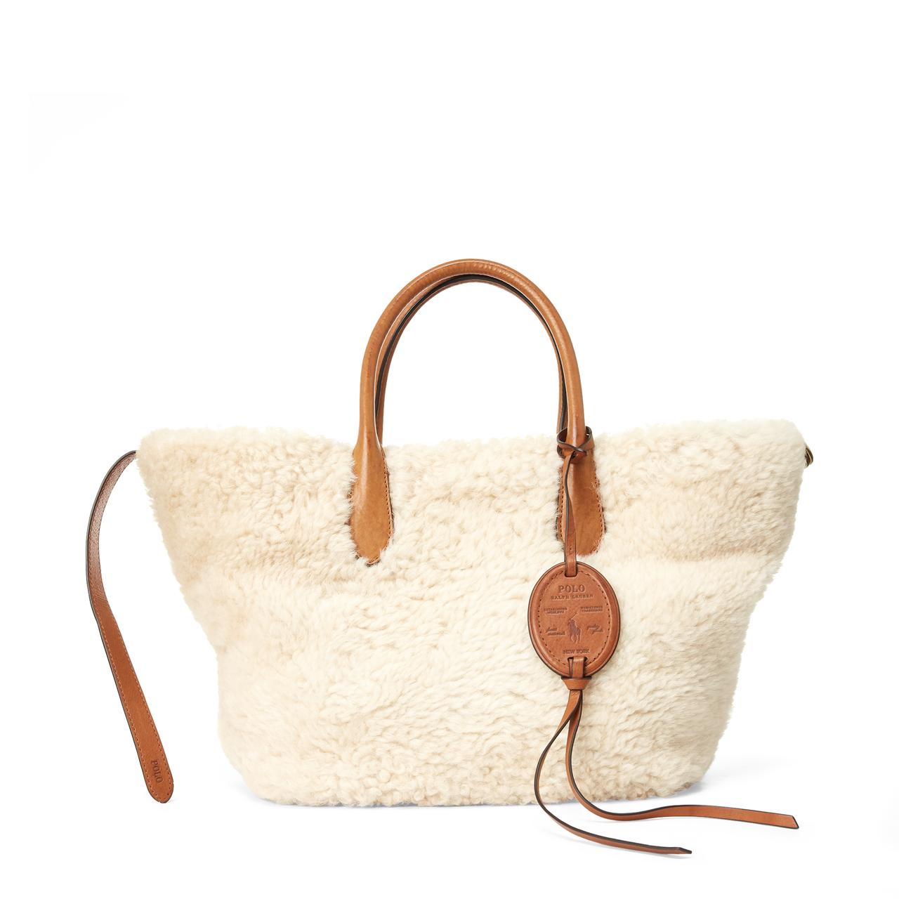 Bellport羊絨手提包,售價28,780元。圖/Polo Ralph Lau...