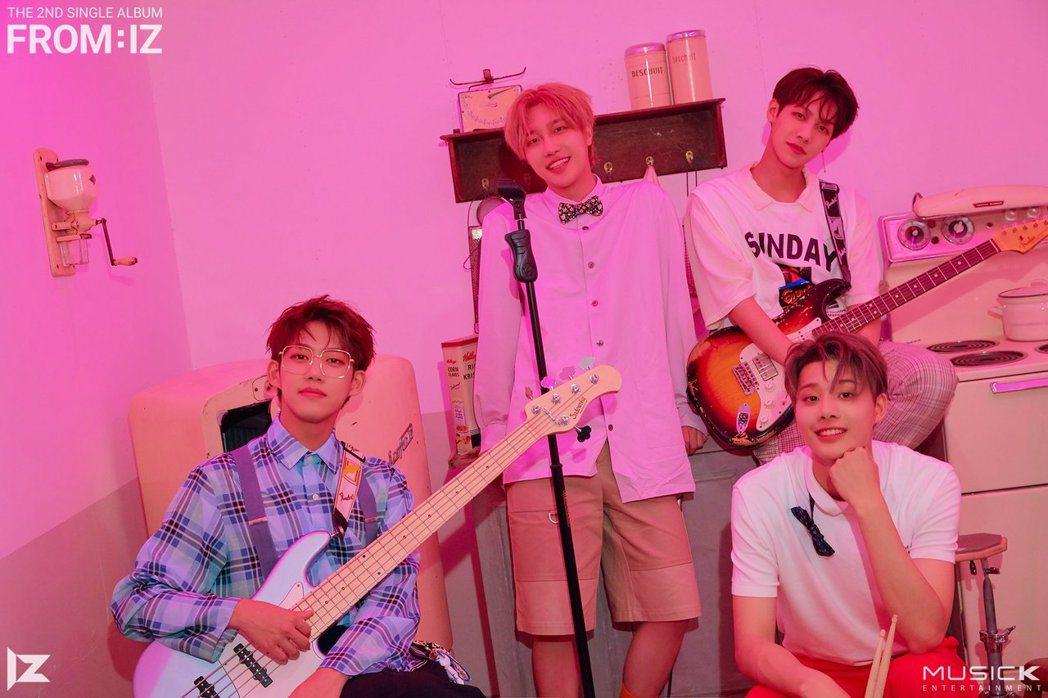 南韓樂團IZ來台開唱,票價超親民。圖/酷亞音樂提供