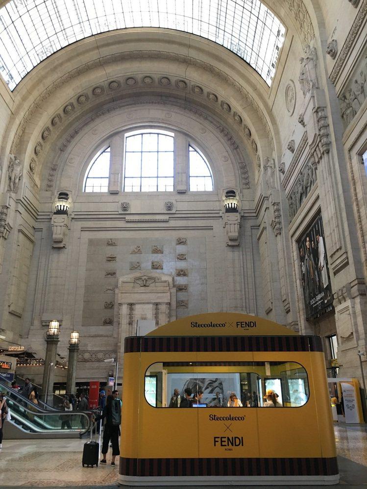 FENDI x Steccolecco期間限定店,搭配上中央車站宏偉壯觀的建築特...