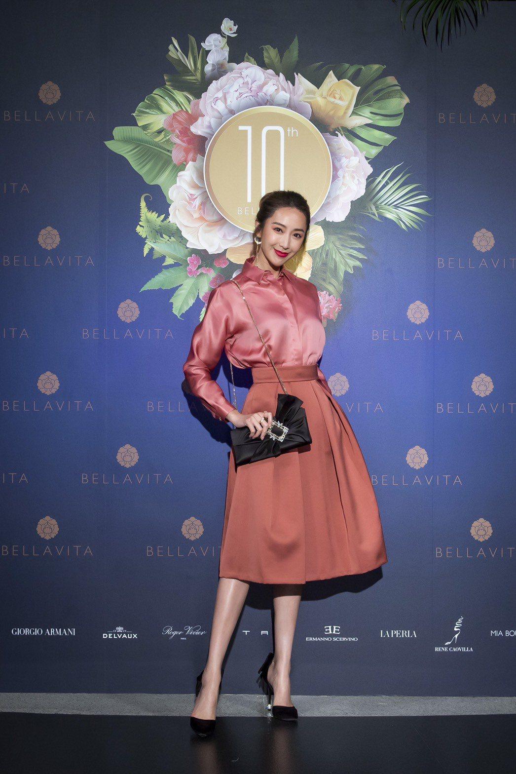 隋棠出席BELLAVITA 10周年時尚派對。圖/樺舍公關提供