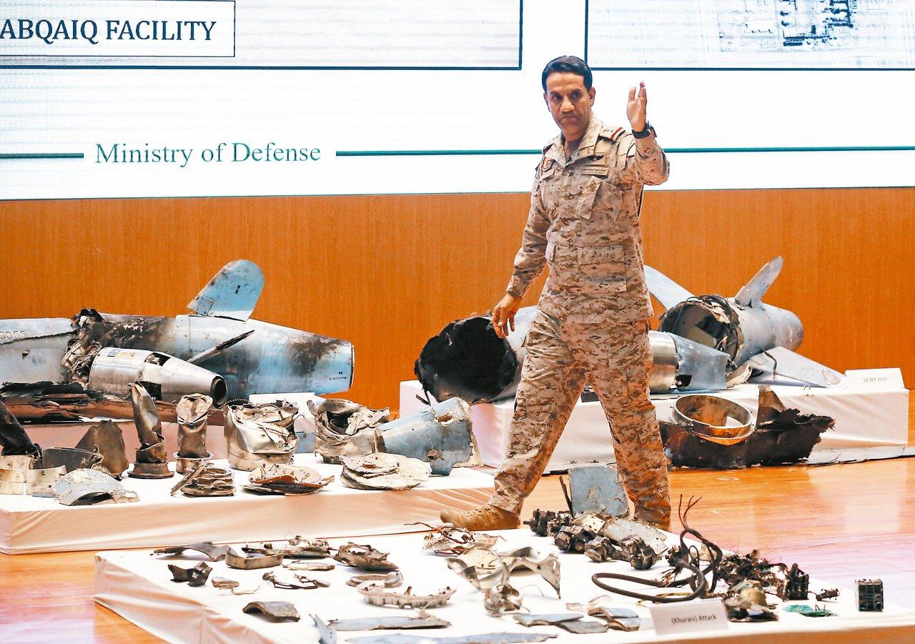 沙烏地阿拉伯軍事發言人馬奇上校十八日舉行記者會,宣稱尋獲伊朗巡弋飛彈及無人機攻擊...