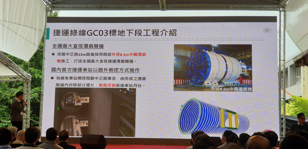 桃園捷運綠線GC03標工程決定採用直徑8.2公尺的中圓潛盾機隧道施工,為國內捷運...