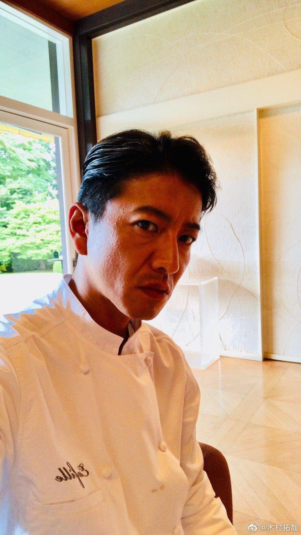 木村拓哉主演美食劇《Grand Maison東京》。圖/擷自木村拓哉微博