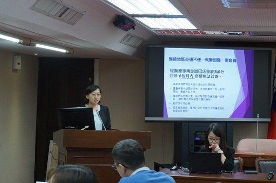 中正大學高齡研究中心呂怡慧博士。 楊連基/攝影