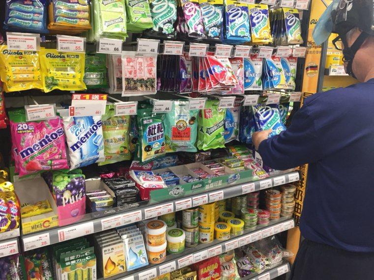 市售口香糖。記者劉明岩/攝影
