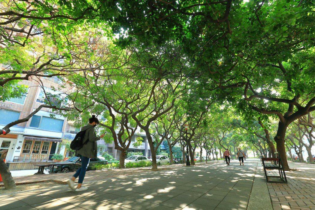 彩虹公園是高雄名人巷,多位富商巨賈都住在這裡。 圖片提供/京城建設