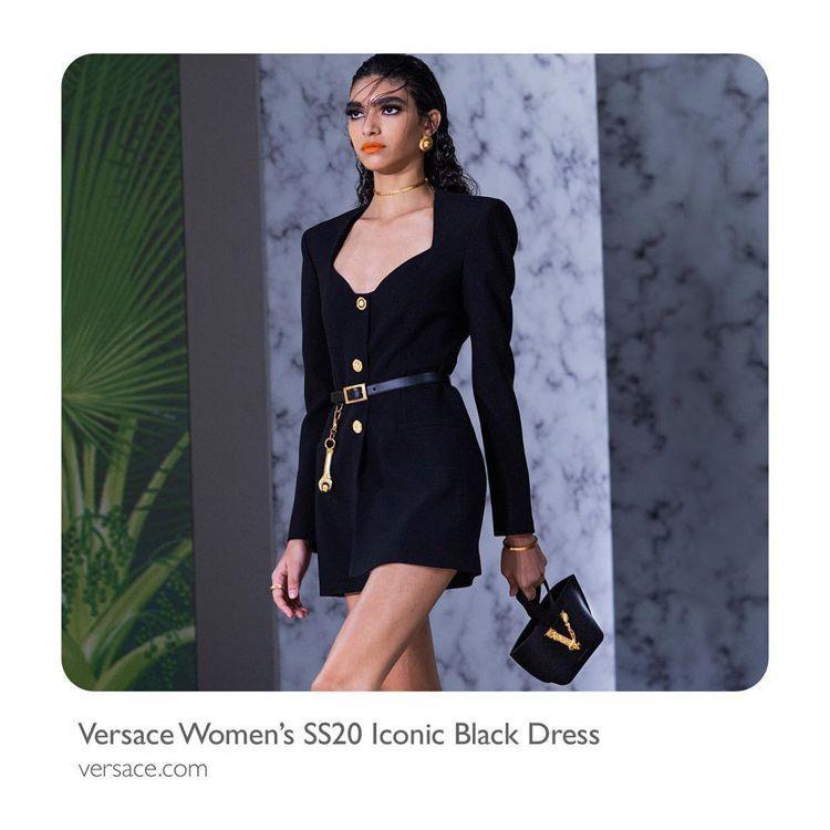 靈感來自高訂系列的新品,則是主打黑色基底配金色釦飾,打造強烈辨識度的VERSAC...