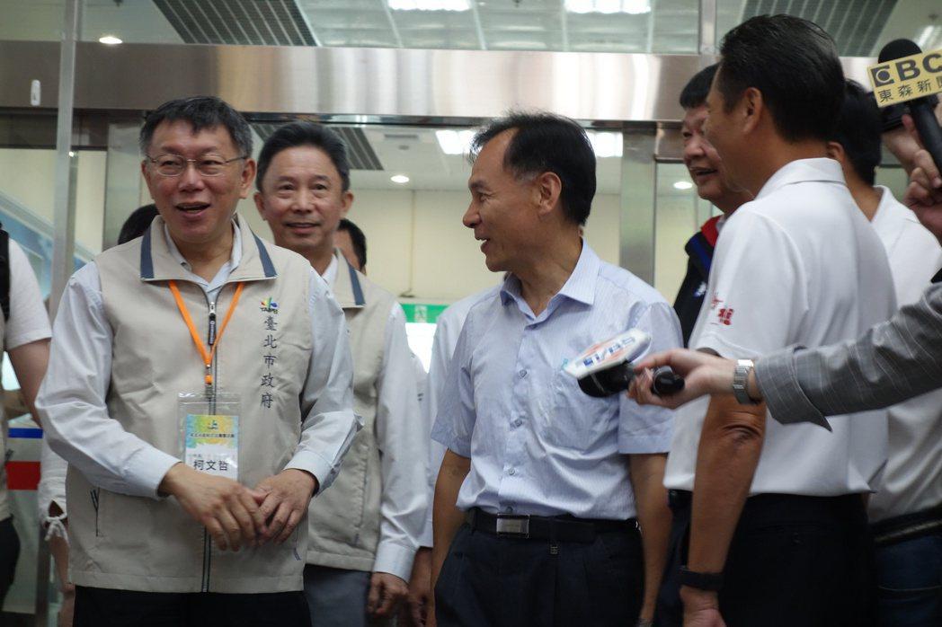 台北市長柯文哲今受訪時表示,最後一次看到史明是一年多前,過去幾次接觸,他是堅持信...