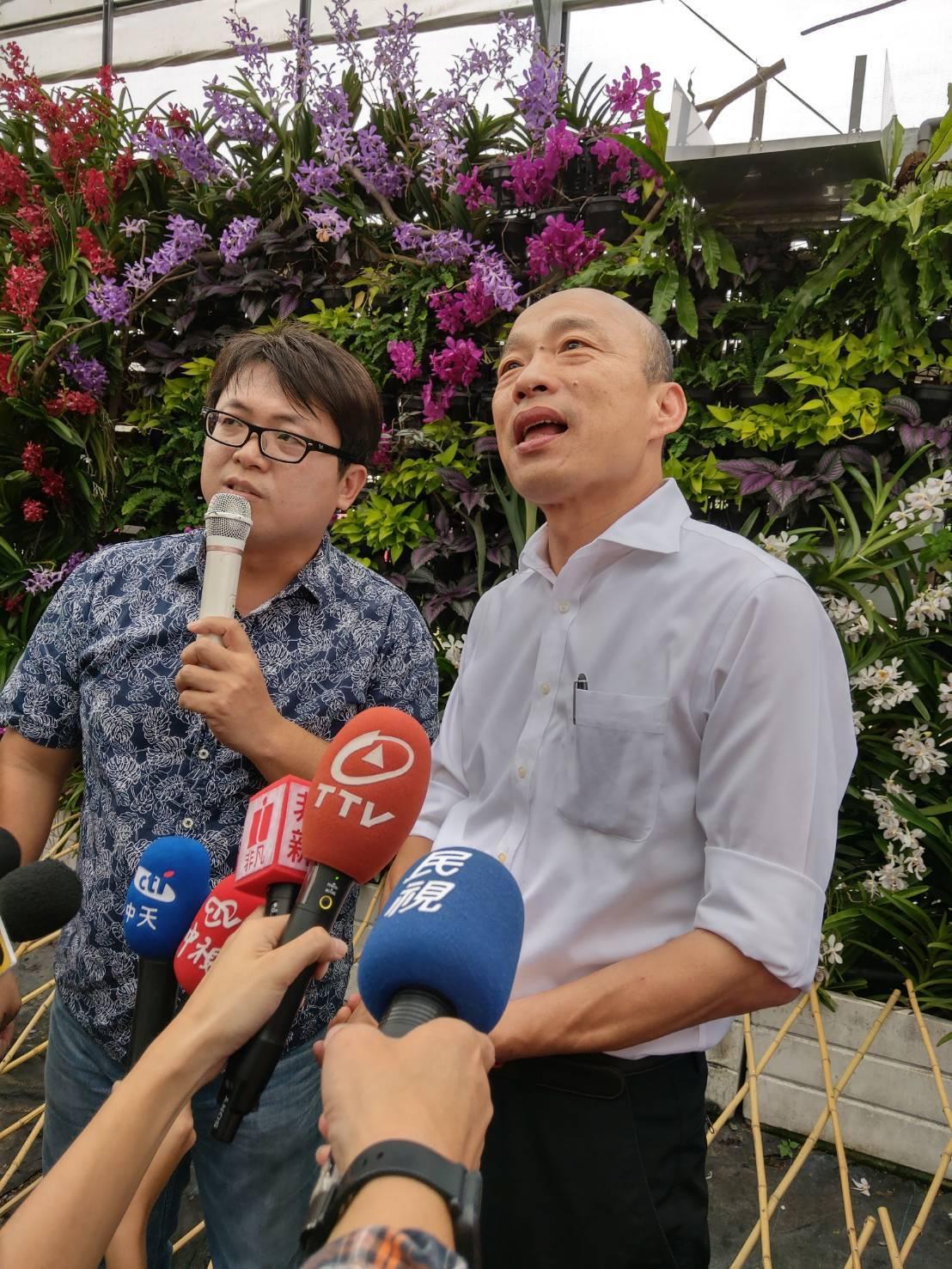 國民黨總統參選人韓國瑜(右)。記者劉宛琳/攝影