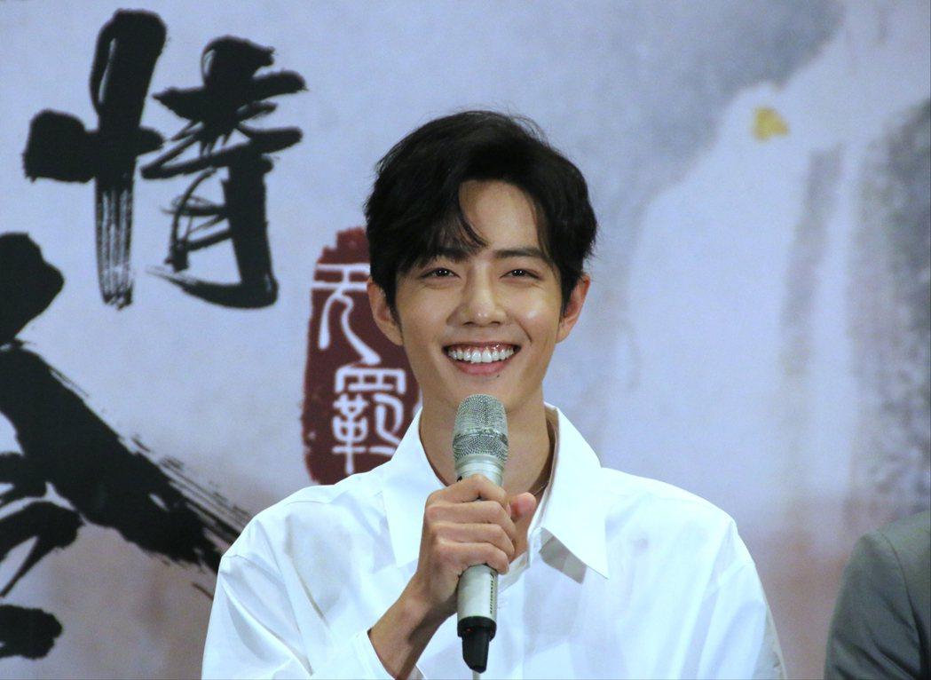 肖戰露出招牌燦爛笑容。記者李姿瑩/攝影