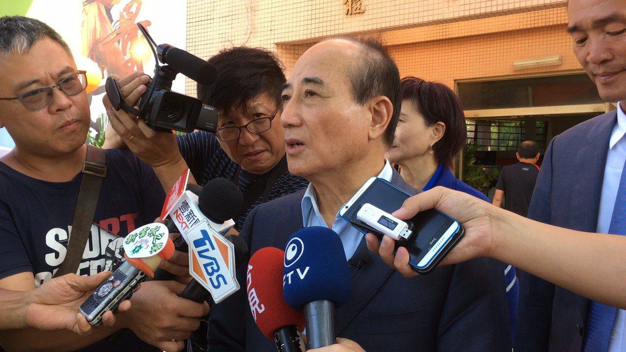 31大老簽署事前知情且拒簽,王金平否認且說傳言是胡說八道。記者陳雅玲/攝影
