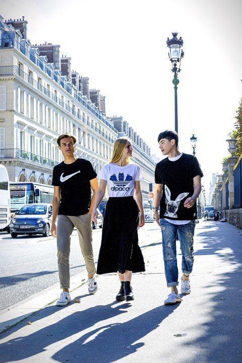 王凱(右)七位數接拍服飾品牌廣告並遠赴法國取景  圖/王凱提供