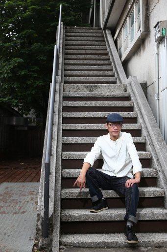 演員吳朋奉有藝術家性格。記者蘇健忠/攝影