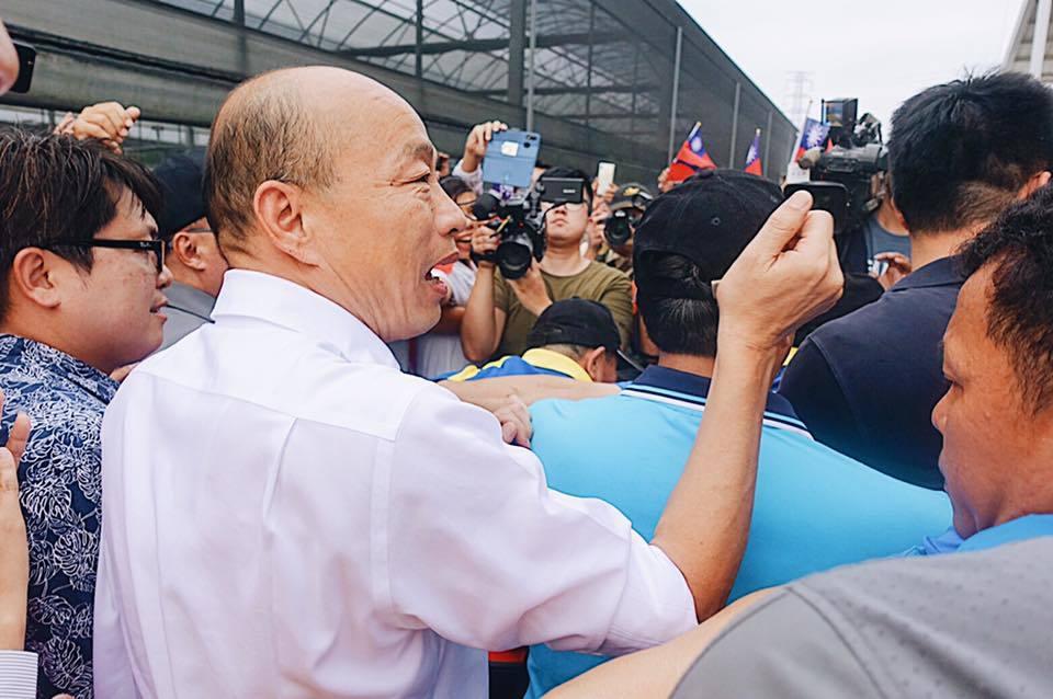 國民黨總統參選人韓國瑜昨天下鄉屏東進行產業參訪之旅。 圖/翻攝自韓國瑜臉書
