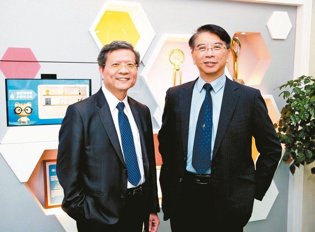 程曦董事長黃士軍(右)和共同創辦人張榮貴。記者曾吉松/攝影
