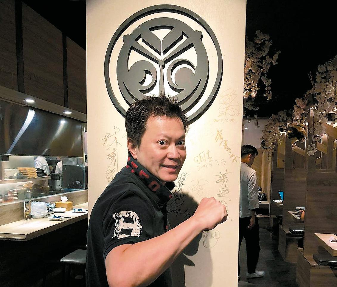 歐買尬集團創辦人林一泓鍾情美食,跨界開起居酒屋。 記者葉子菁/攝影