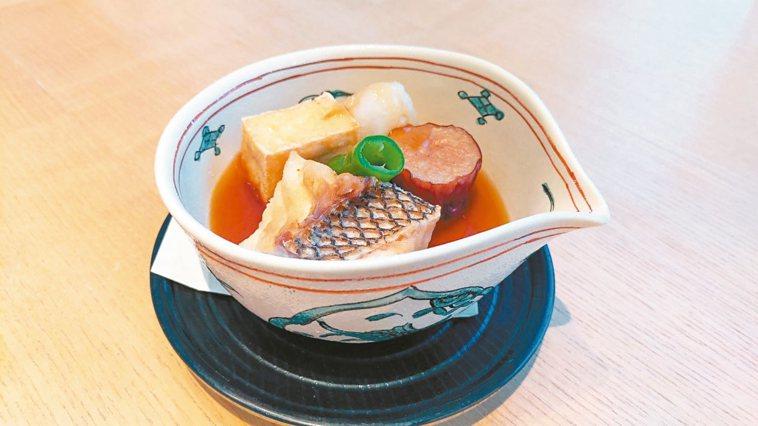 鯛魚竜田揚與蘿蔔泥煮蔬菜 照片:加藤良一/提供