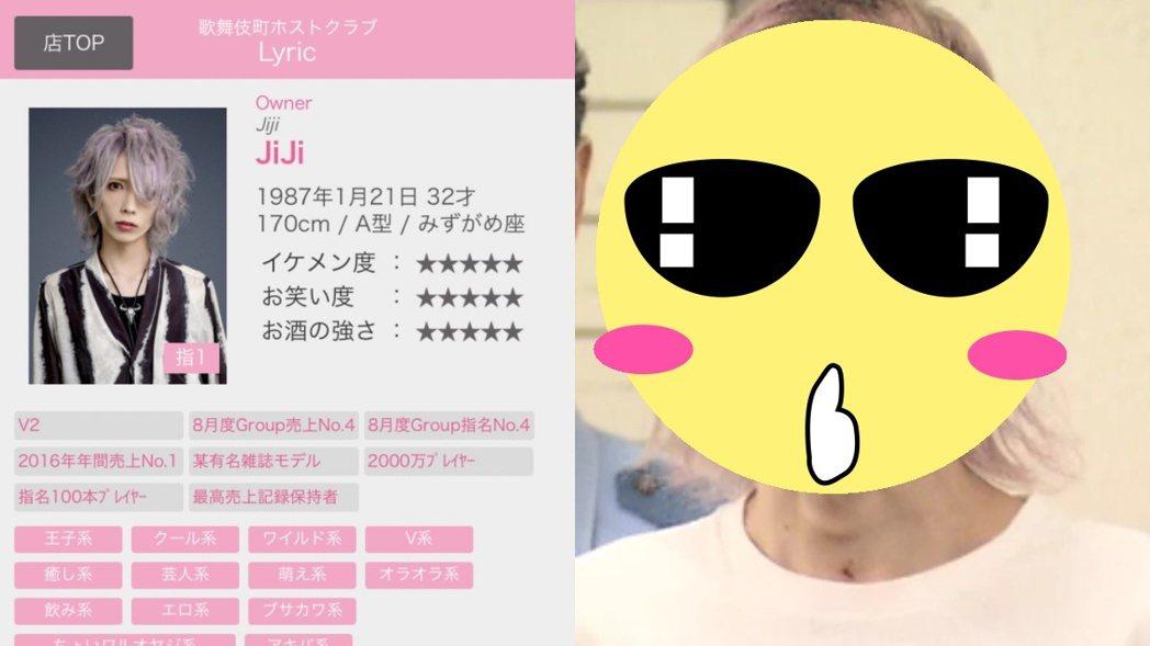 日本一名牛郎被警方逮捕後,曝光了素顏模樣。 圖/擷自推特