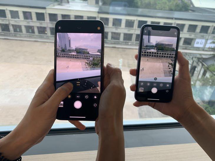 iPhone 11 Pro「望遠鏡頭」可以在不減損畫質的下把鏡頭拉近兩倍距離,i...