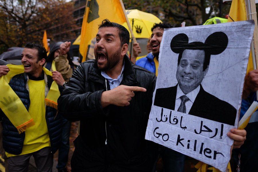 埃及總統塞西於近日遭遇執政以來最大抗議潮,顯示其執政開始出現危機。(Photo ...