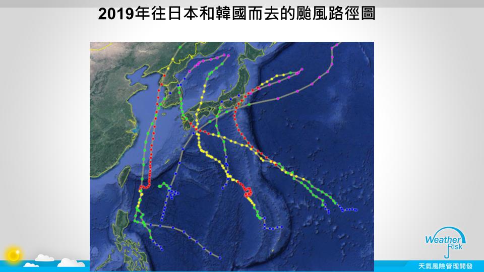 今年往日韓的颱風路徑圖。圖/取自賈新興臉書