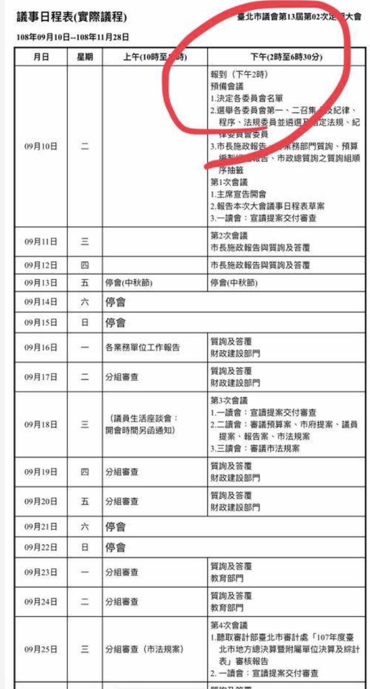 國民黨台北市議員游淑慧則是忍不住在臉書上直言,這是「議會準時下班條款」。圖/擷取...