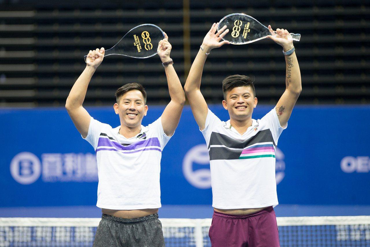 楊宗樺(左)與謝政鵬在海碩盃成功完成二連霸。圖/海碩整合行銷提供