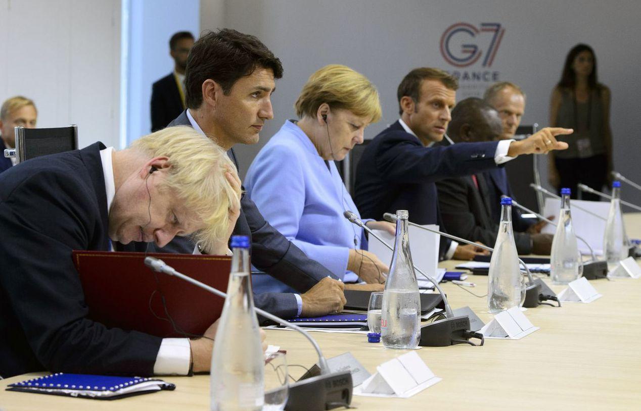 德法發起「多邊主義聯盟」,多國表態願意加入。圖為願意加入的各國領袖:英國首相強生...