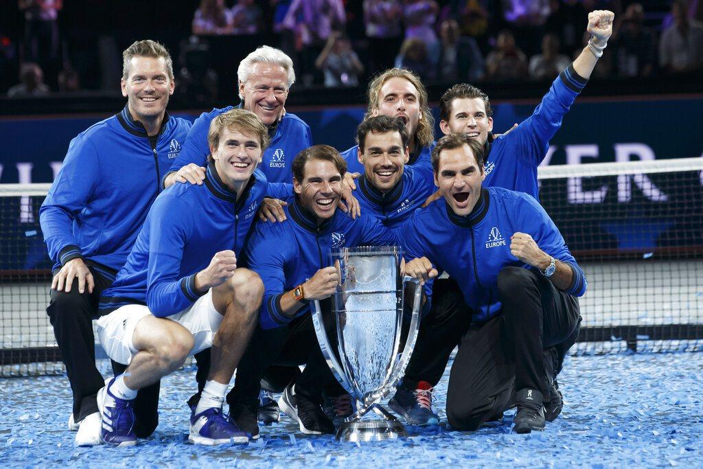 歐洲隊笑納拉沃盃三連霸。 美聯社