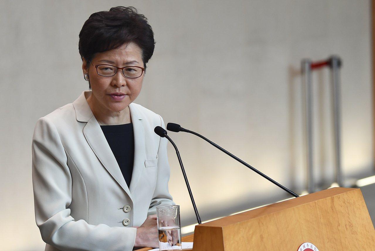 香港特區行政長官林鄭月娥。香港中通社圖片