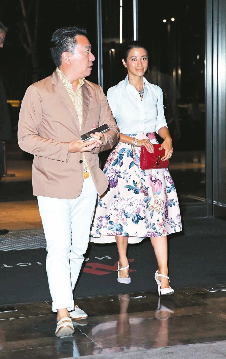 李蒨蓉(右)與老公李德立。聯合報系資料照/記者陳瑞源攝影